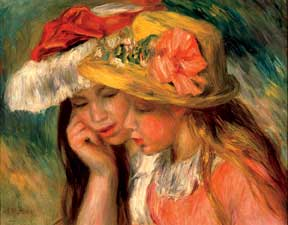 Renoir: Heads of Two Young Girls